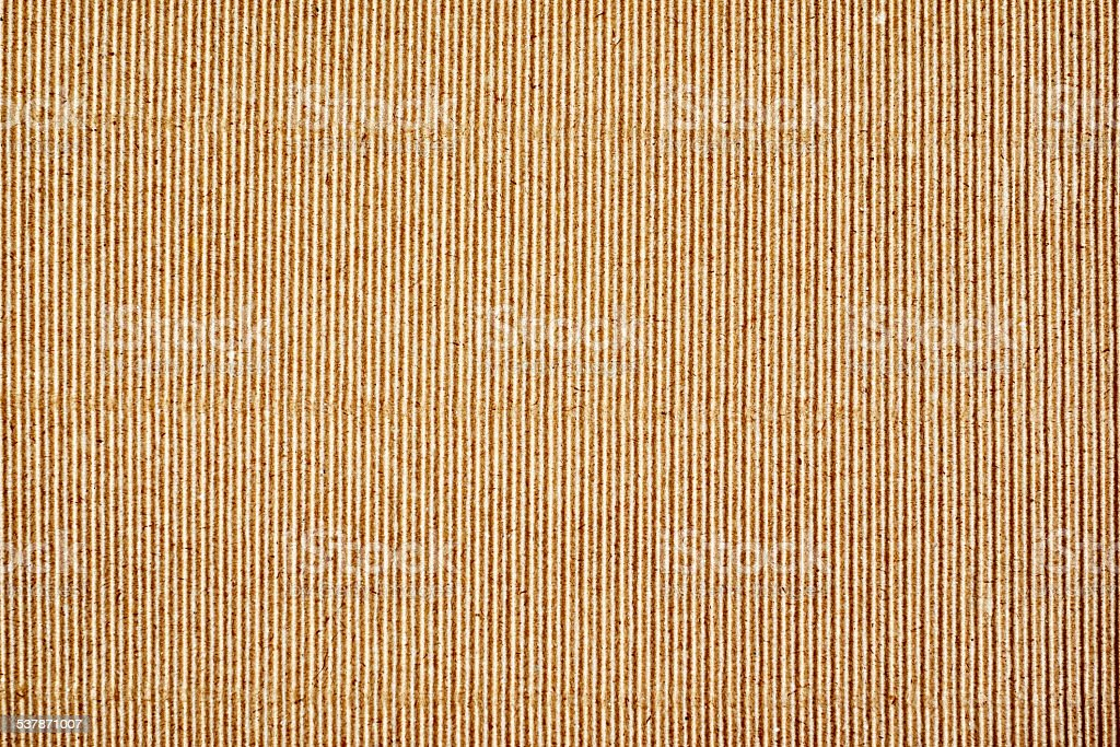 Paper texture - brown paper sheet, corrugated. stock photo