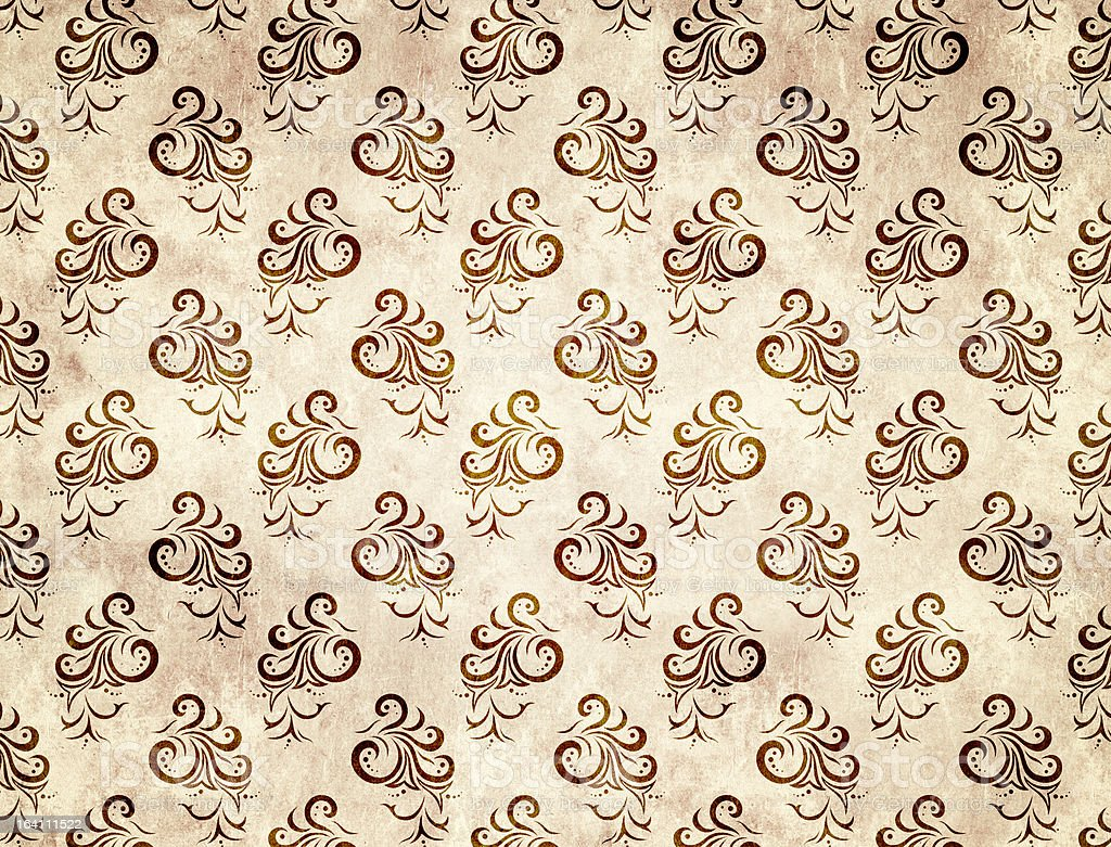 Paper texture with floral decor royalty-free stock photo