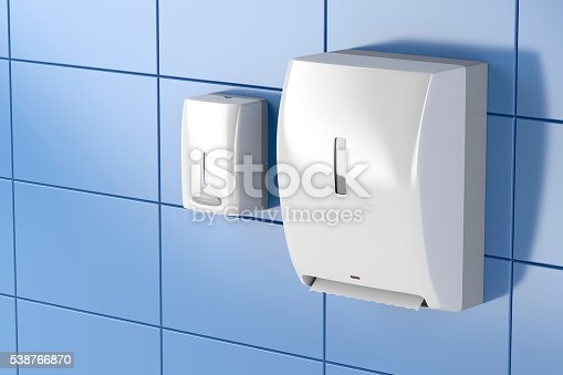 istock Paper towel and soap dispensers 538766870