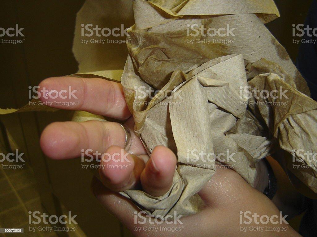 Paper Towel Dry stock photo
