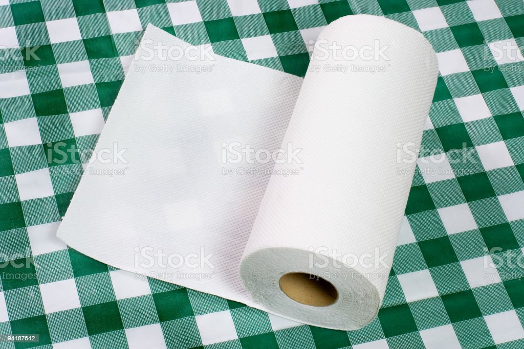 Paper towel on tabletop royalty-free stock photo