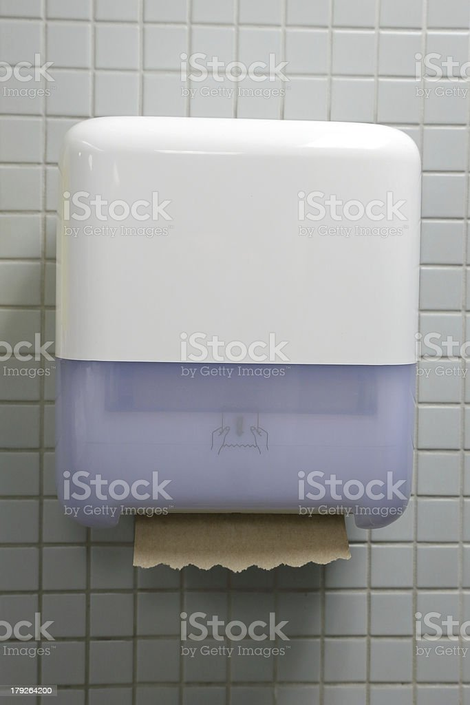 Paper towel on wall royalty-free stock photo