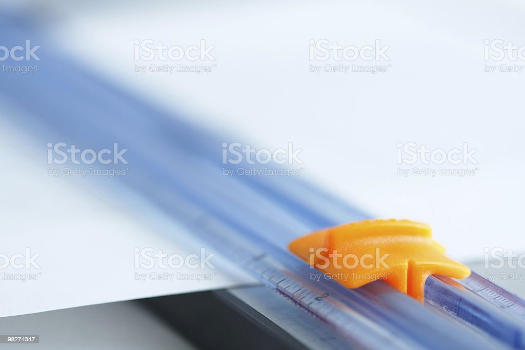Paper Trimmer, Close Up royalty-free stock photo