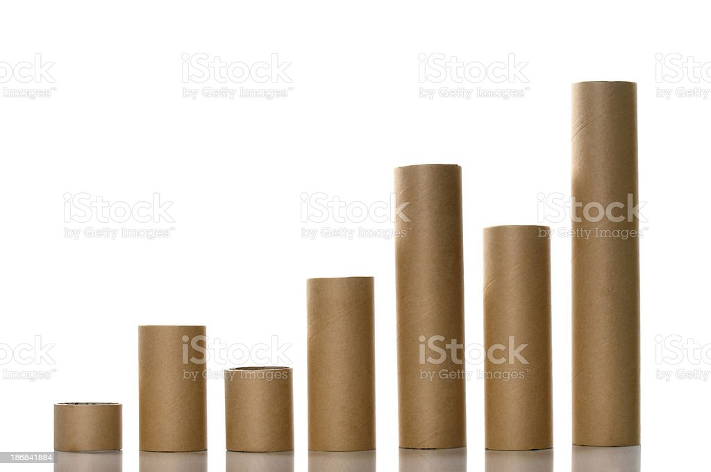 Paper Tubes Like a Graph royalty-free stock photo