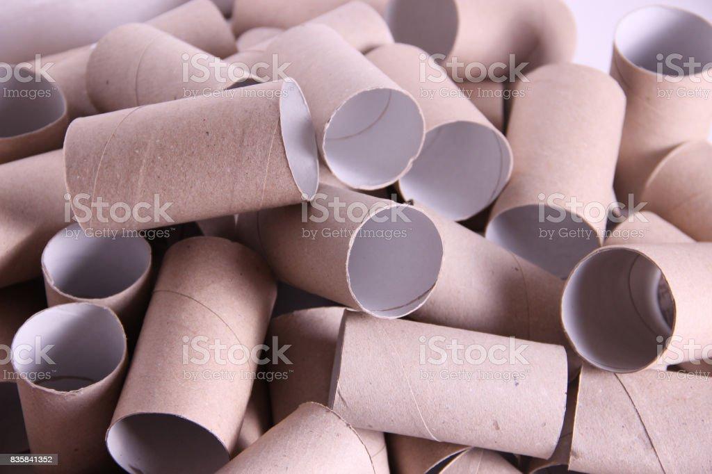 Paper tubes stock photo
