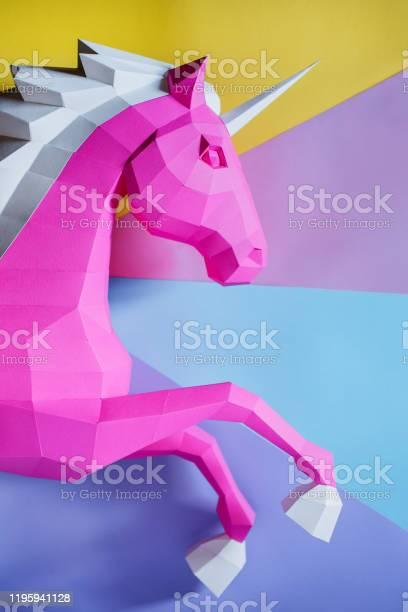 Paper unicorn head on a colored background picture id1195941128?b=1&k=6&m=1195941128&s=612x612&h=r381co5qbwz2ba678ktcvqni4wfuejvyxf1txno6n6c=
