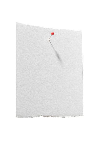 papier avec un tracé de détourage - épingler photos et images de collection