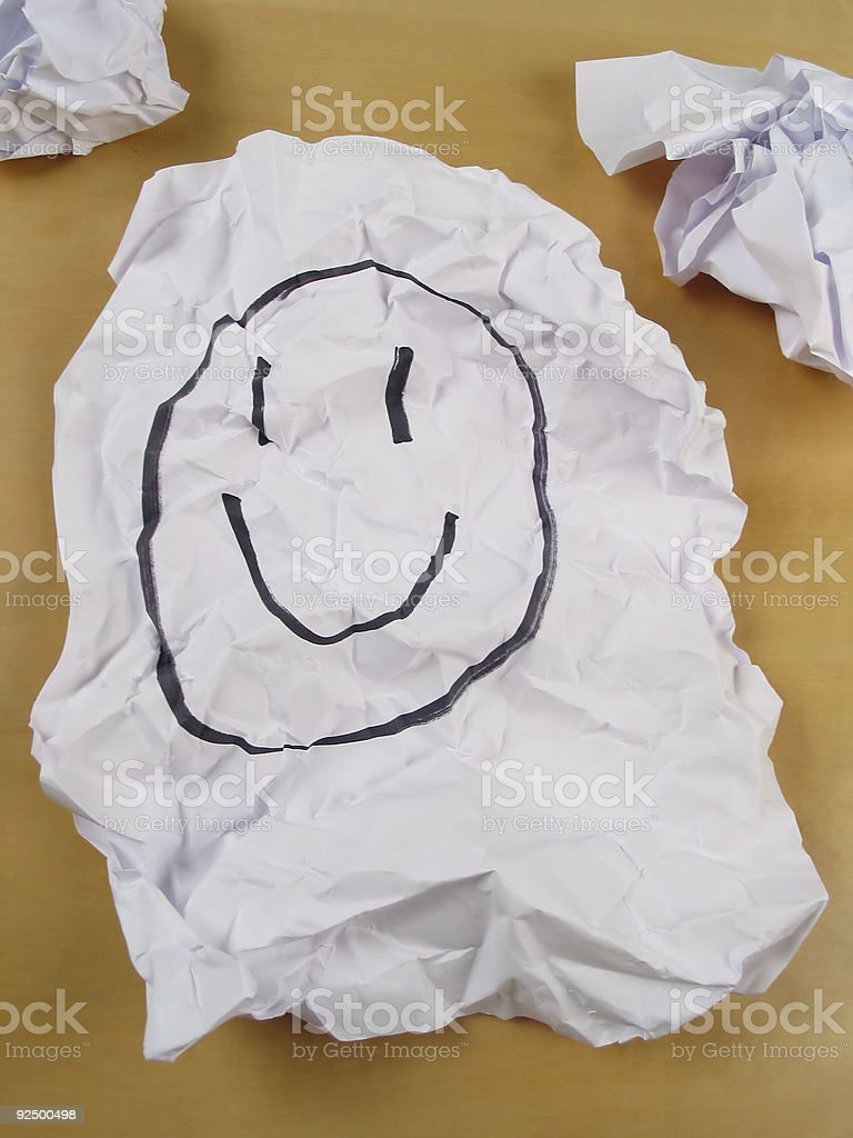 Paper wad of smilie royalty-free stock photo