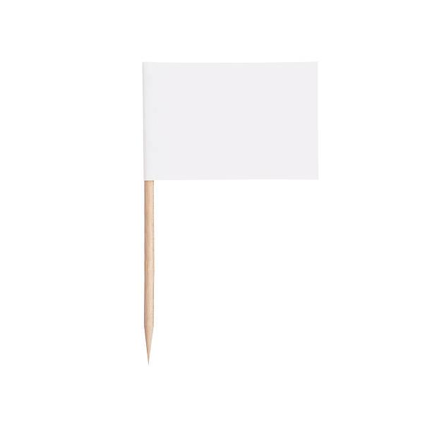 papel branco flag.isolated no fundo branco - palitinho - fotografias e filmes do acervo
