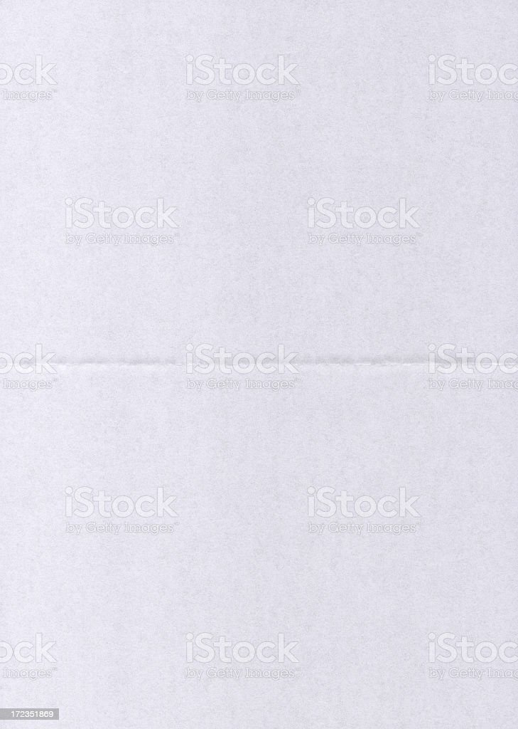 paper with 1 fold XXL royalty-free stock photo