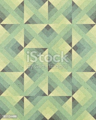 istock paper with Art Deco geometric pattern 181124486