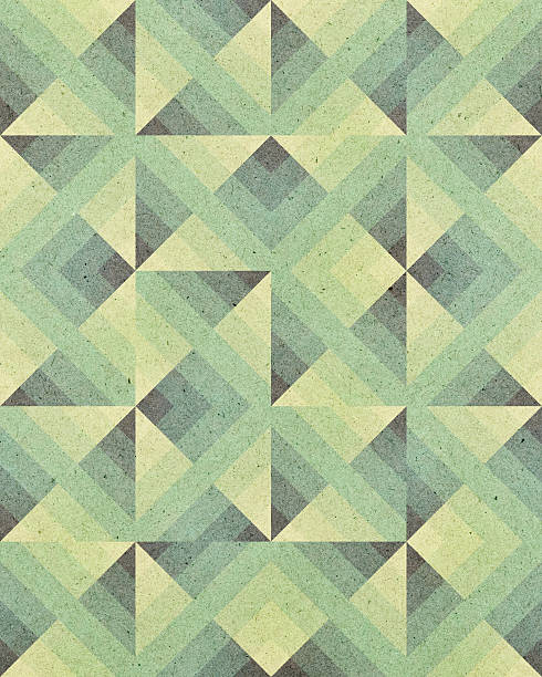 paper with Art Deco geometric pattern stock photo