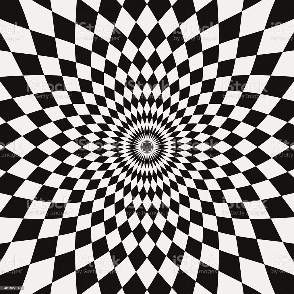 Black And White Photography Pattern : Paper with black and white symmetrical pattern stock photo