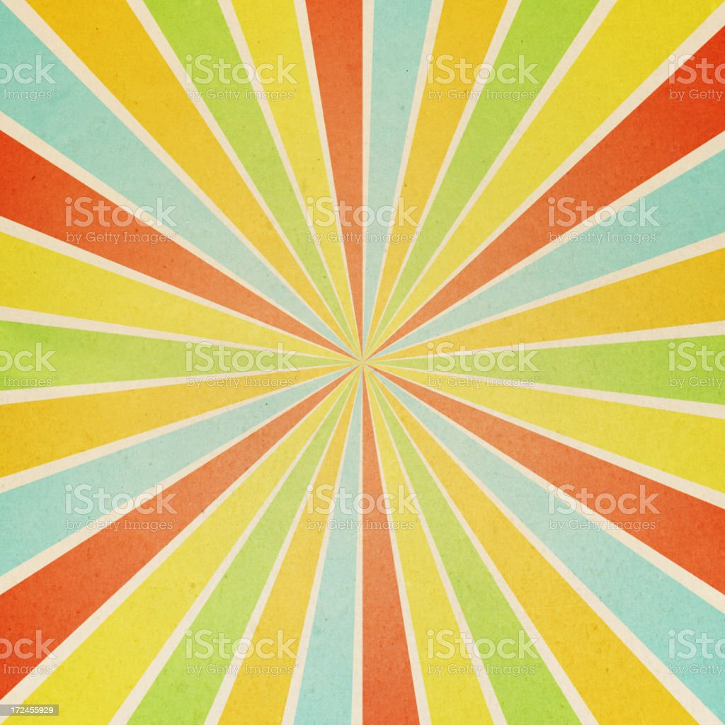 paper with colorful sunburst pattern stock photo