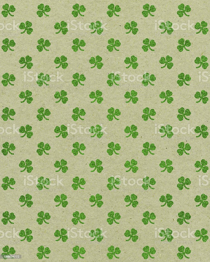 paper with glitter clover pattern royalty-free stock photo