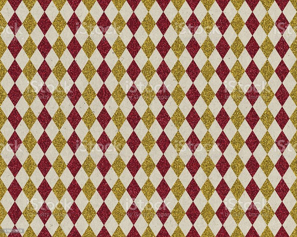 paper with glitter diamond pattern stock photo