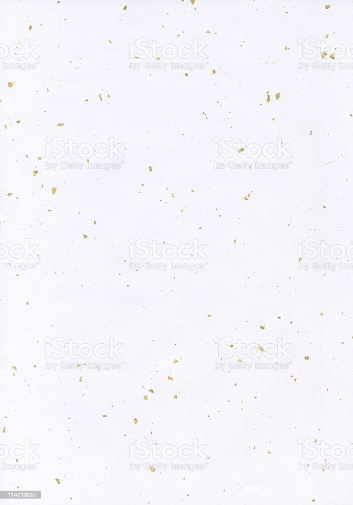 Paper with gold flecks stock photo
