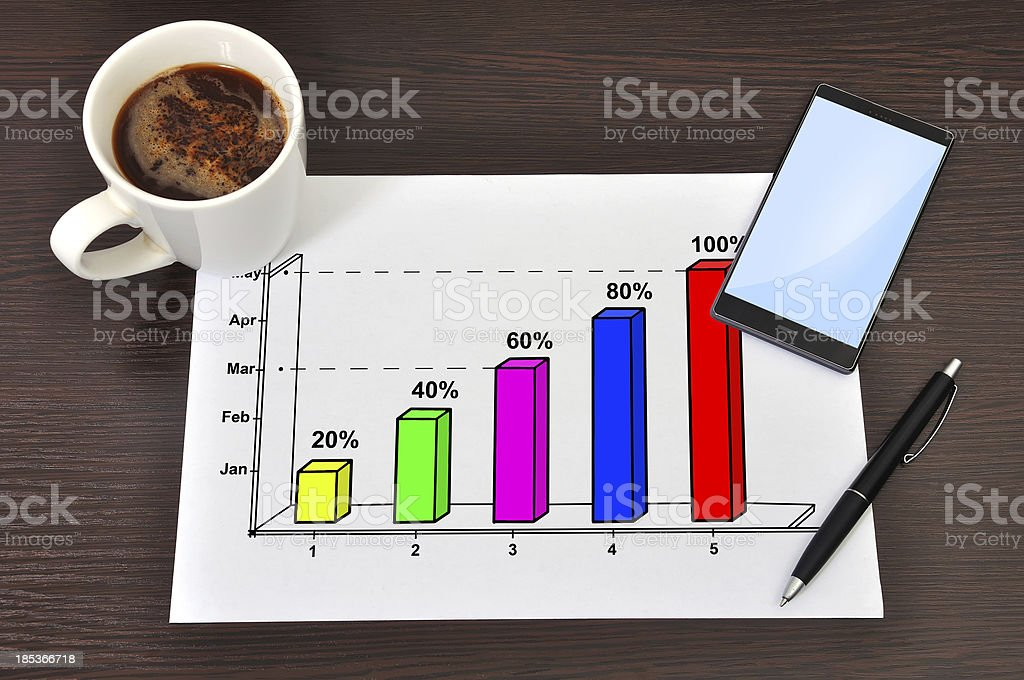 paper with graphic royalty-free stock photo