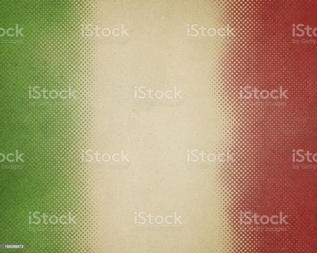 paper with green and red halftone stock photo
