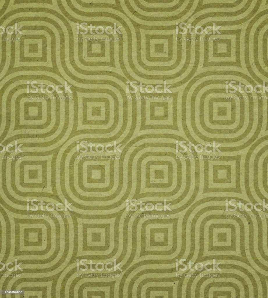 paper with green modern circle pattern stock photo