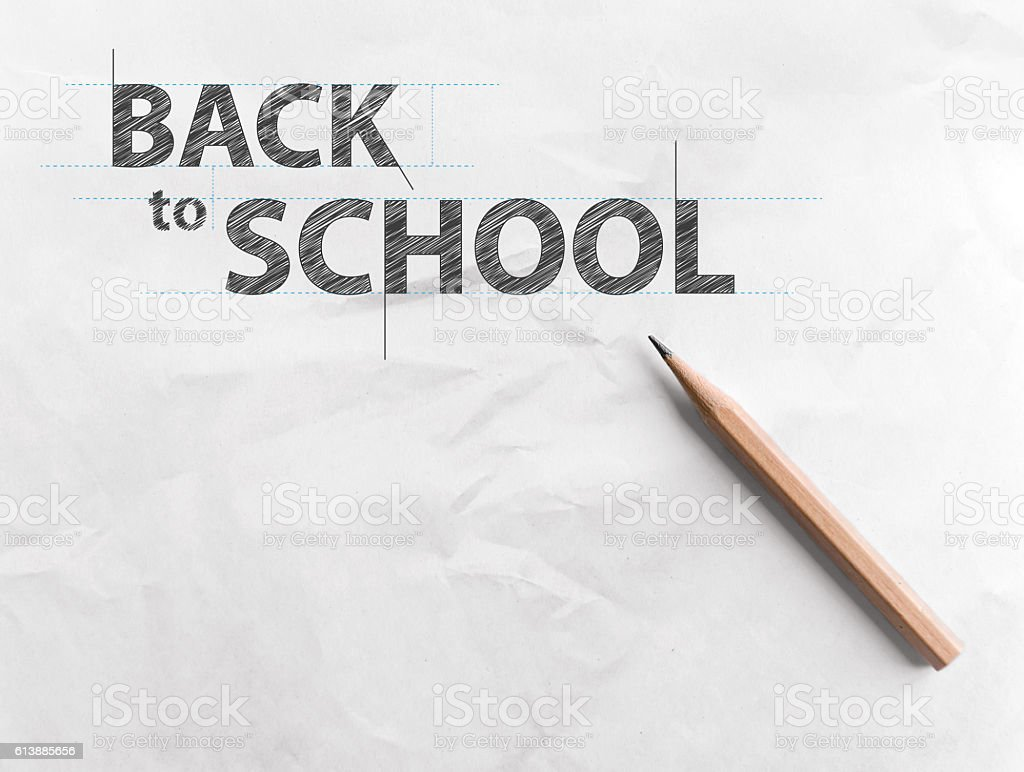 Paper with inscription word BACK TO SCHOOL – Foto