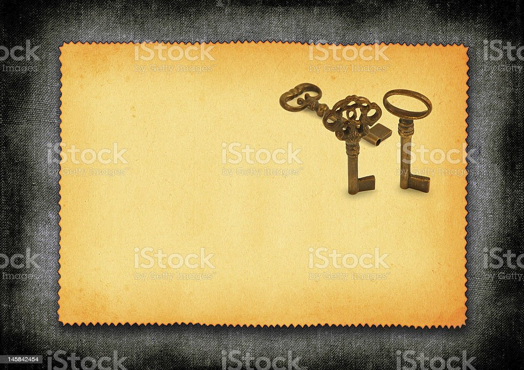 paper with keys royalty-free stock photo