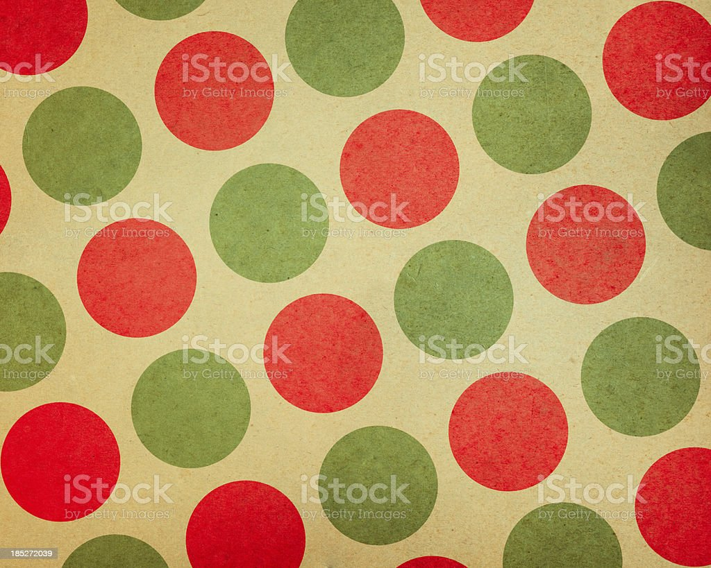 paper with large red and green dots stock photo