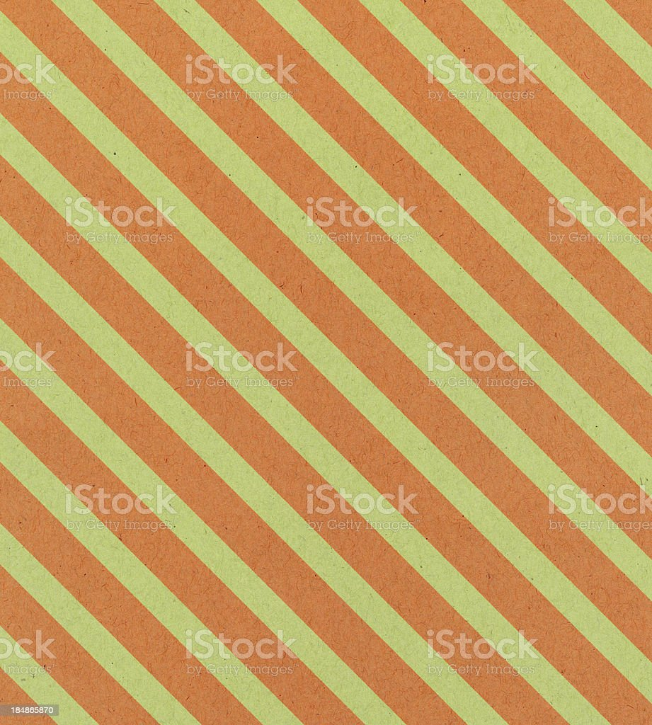 paper with orange and green stripe royalty-free stock photo
