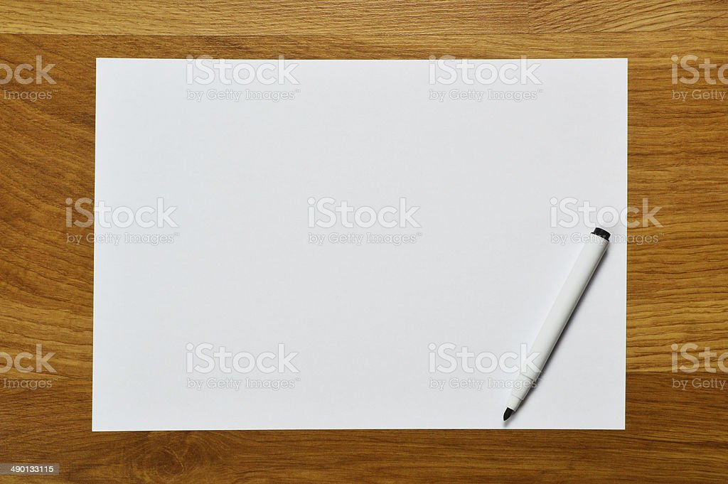 Paper with Pen (Click for more) stock photo