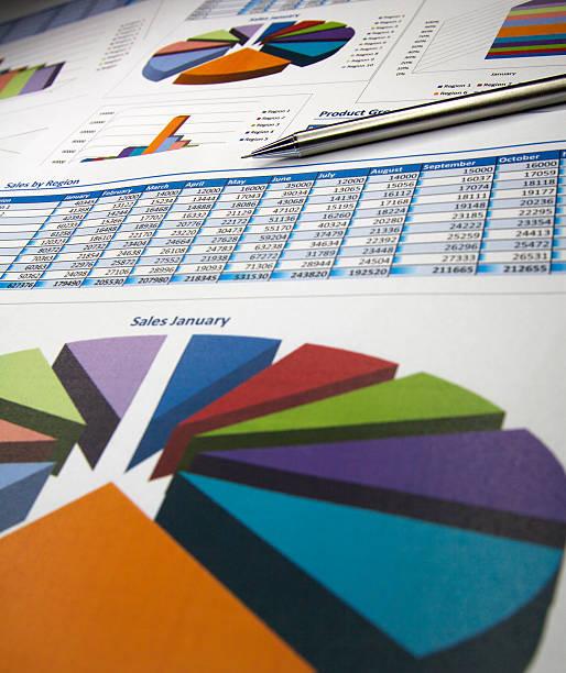 Des graphiques et des diagrammes - Photo