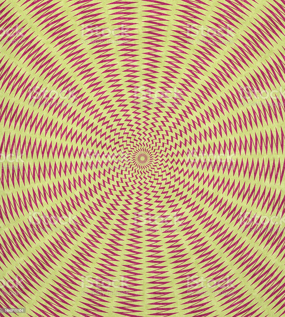 paper with psychedelic optical design stock photo