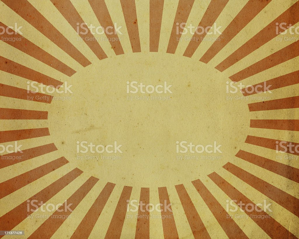 paper with red sunbeam pattern royalty-free stock photo