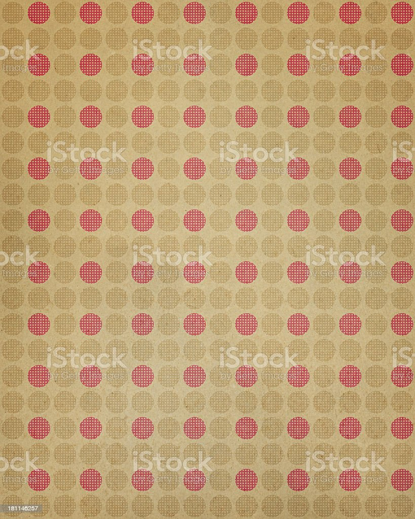 paper with seamless polka dot pattern royalty-free stock photo