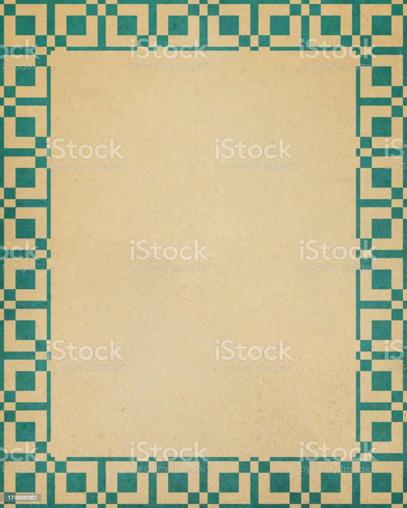 paper with square border pattern royalty-free stock photo