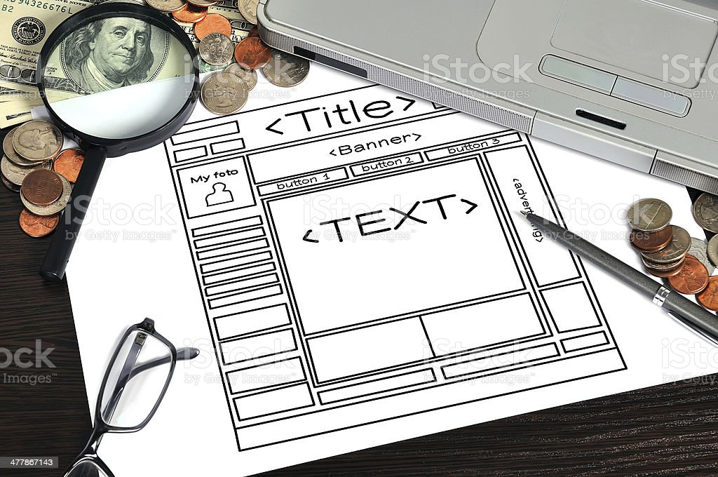 paper with  template web page royalty-free stock photo