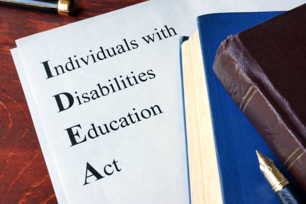 Paper with title Individuals with Disabilities Education Act (IDEA) stock photo