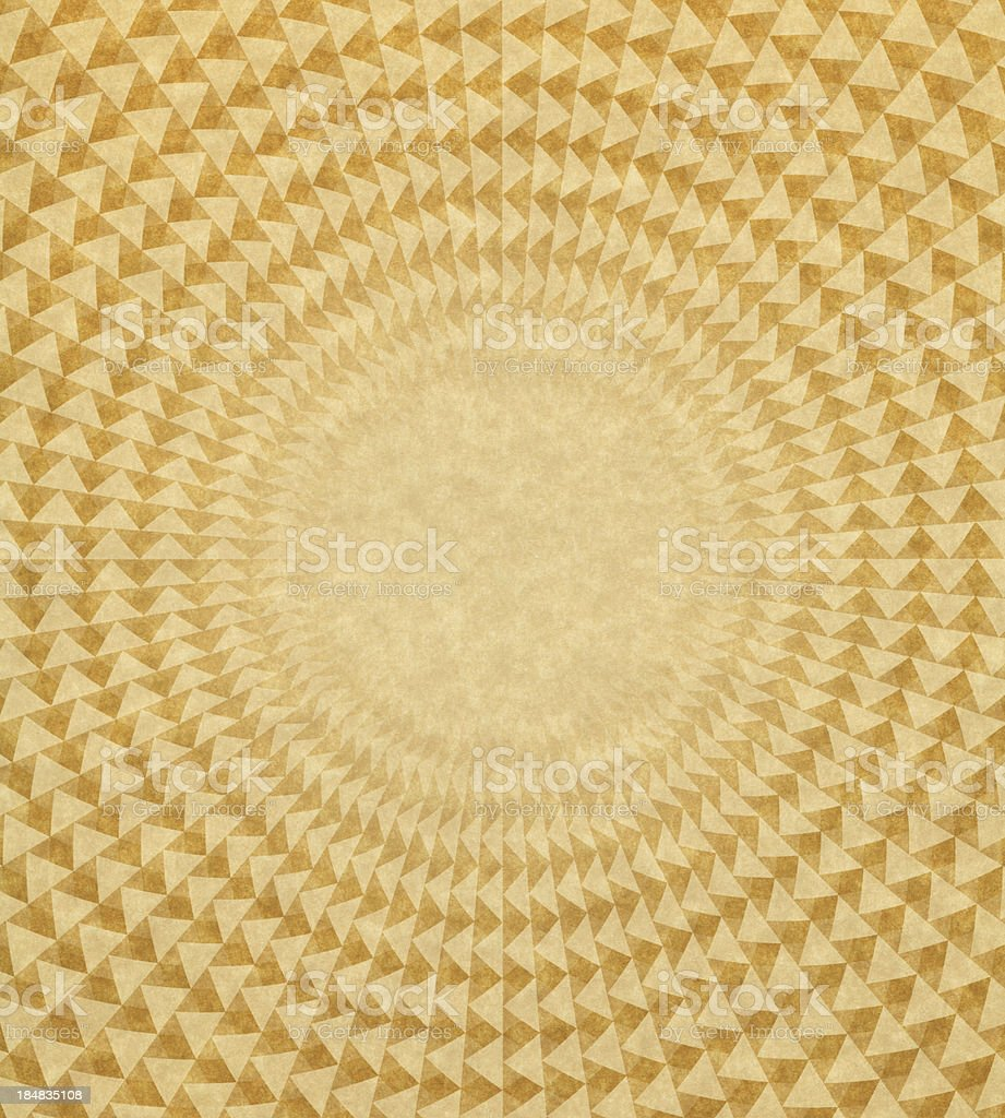 paper with triangle circle pattern stock photo