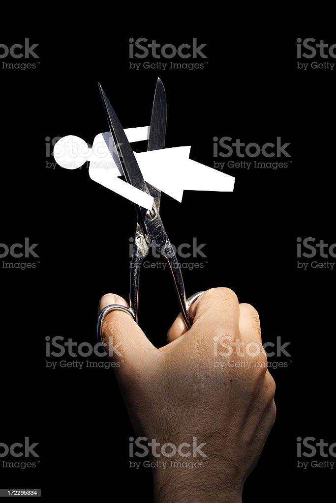 Paper woman stock photo