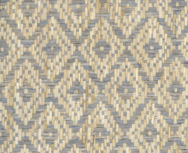 paper woven in diamond twill pattern stock photo