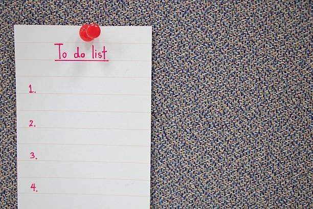 paper written to do list plan in the future - zukunftswünsche stock-fotos und bilder