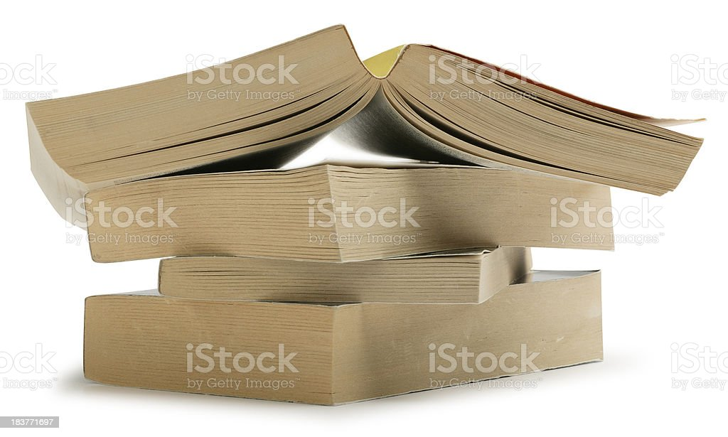 Paperback Books stock photo