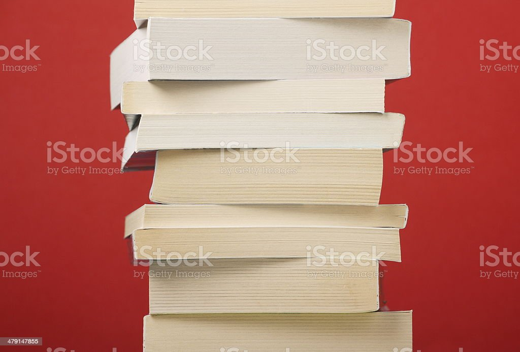 Paperback Stack stock photo