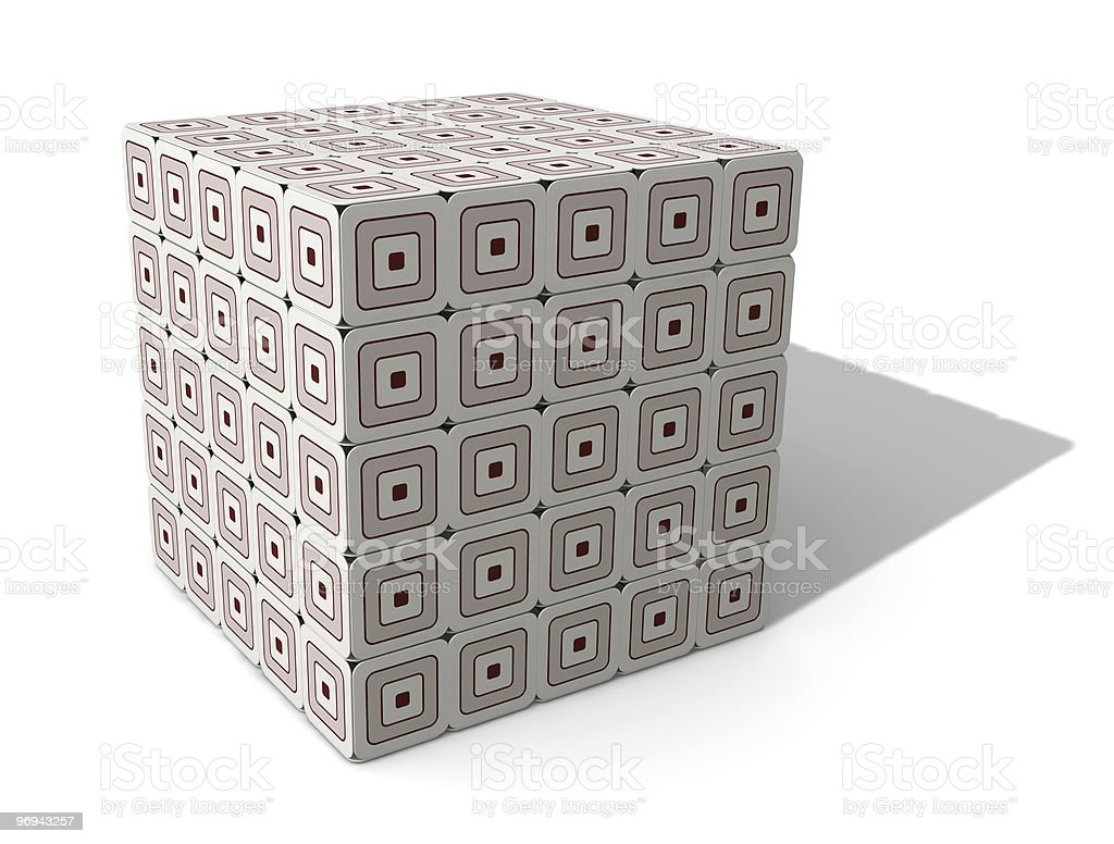 Paperboard Cube royalty-free stock photo