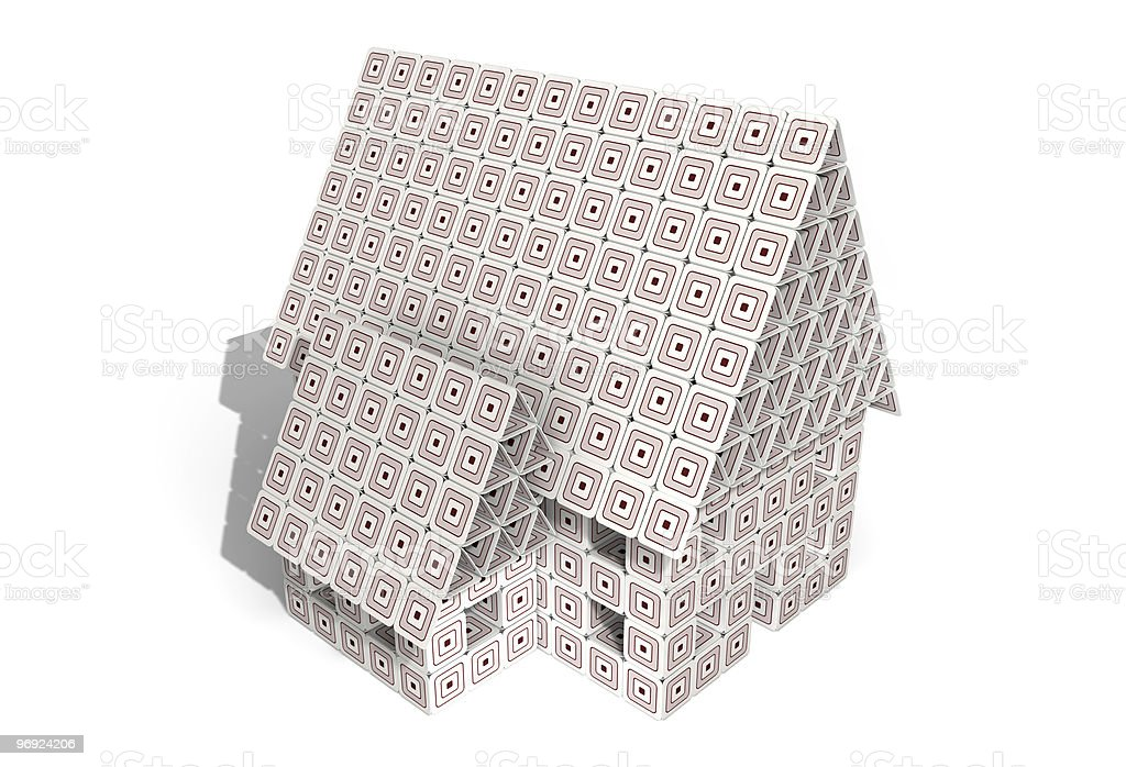 Paperboard House royalty-free stock photo