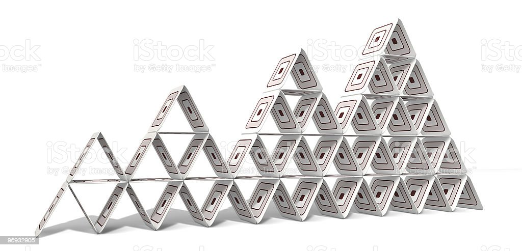 Paperboard Pyramid royalty-free stock photo