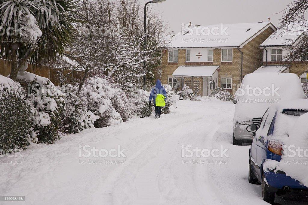 Paperboy im Schnee – Foto