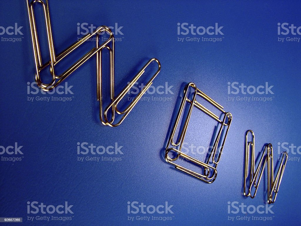 Paperclips, WOW royalty-free stock photo