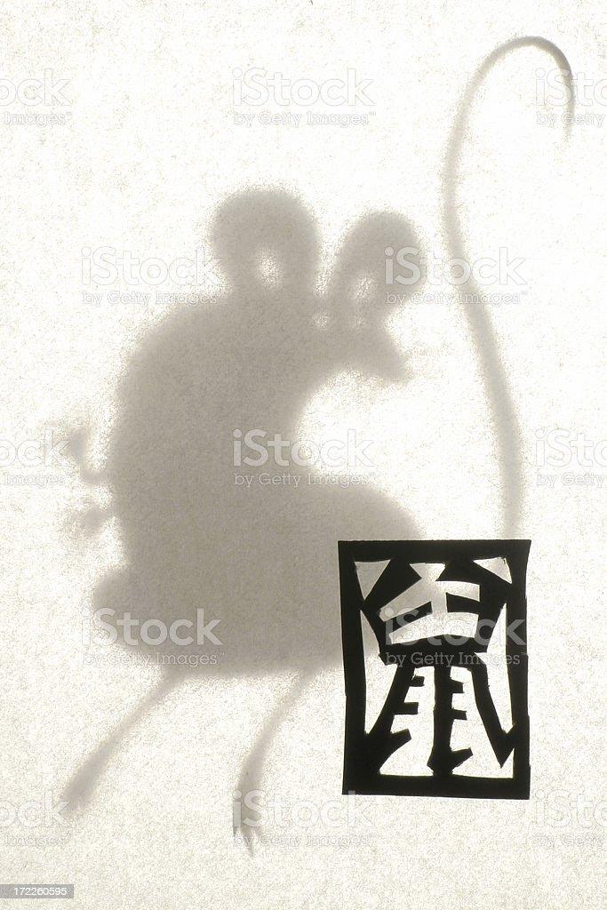 Papercut Zodiac - Rat stock photo