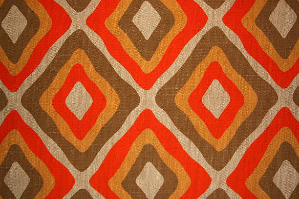 Paperhangings Old fashioned wallpaper of the seventies wallpaper sample stock pictures, royalty-free photos & images