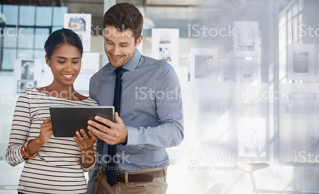 Paperless partners stock photo